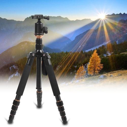 Andoer plegable portátil de aluminio extensible aleación Unipod trípode monopie con rótula para cámara réflex digital de Canon Nikon Sony