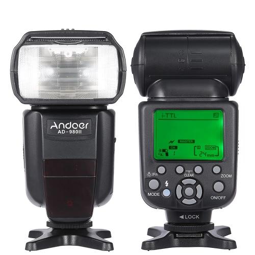 Andoer AD-980II i-TTL HSS 1 / 8000s Master Slave GN58 Flash Speedlite dla aparatu Nikon D7200