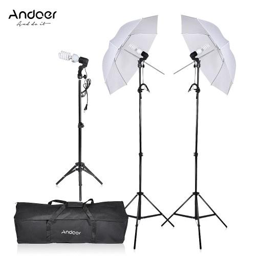 Fotografia / Video Portret Parasol Umbrella Ciągły Trzykrotny Zestaw Oświetleniowy