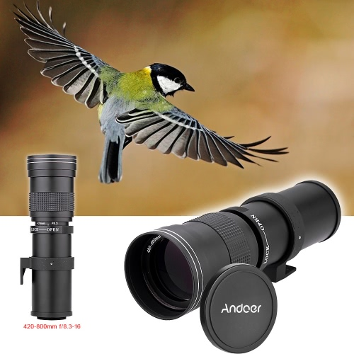 High-Power 420mm/800mm F/8.3-16 Manual Telephoto Zoom Lens for ...