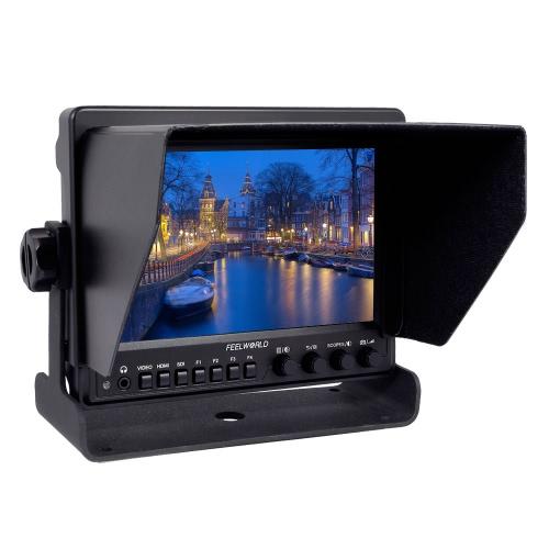 FEELWORLD Z7 7 pouces HD vidéo moniteur 1280 * 800 résolution IPS LCD écran HDMI entrée Conversion SDI sortie 178° Angle de vue avec support en forme de U pour caméscope appareil photo reflex numérique