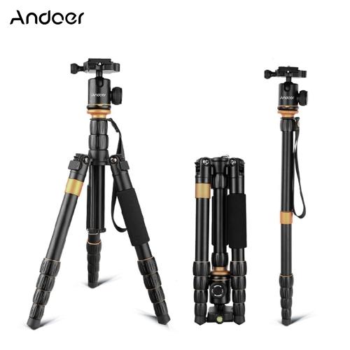 Andoer Profesjonalny Składany odpinany Fotografia cyfrowa kamera wideo Wideo statyw monopod Ball Głowica do Canon Nikon Sony Panasonic DSLR