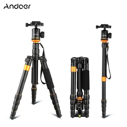 Andoer プロフェッショナル折り畳み式の取り外し可能な調整可能な写真デジタル カメラ ビデオカメラ ビデオ三脚一脚ボール ヘッド キャノン ニコン ソニー パナソニック デジタル一眼レフ用