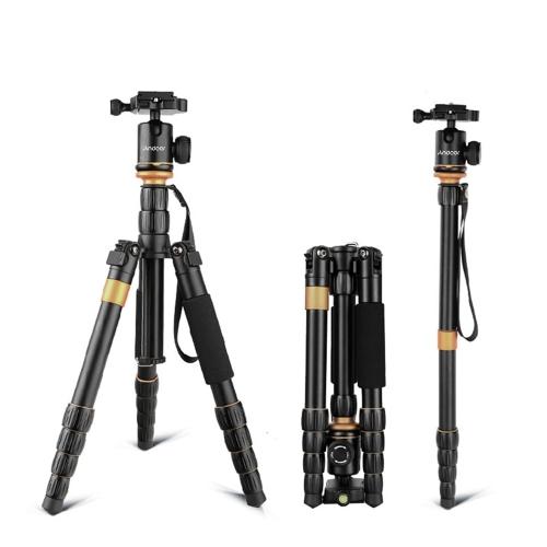 Andoer Professional Foldable Detachable Adjustable Photography Digital Camera Camcorder Video Tripod Monopod Ball Head for Canon Nikon Sony Panasonic DSLR
