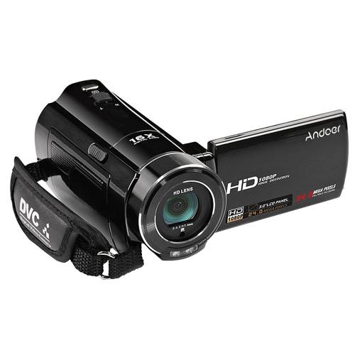 HDV Andoer-V7 1080P Full HD Caméscope numérique Caméra vidéo Max. 24 Mega Pixels 16 × Zoom numérique avec 3,0