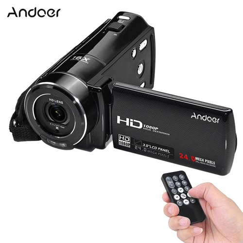 Andoer HDV-V7 1080P Full HD Digital Video Camera Camcorder Max. 24 Mega Pixels 16× Digital Zoom with 3.0