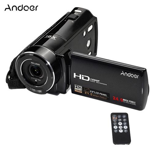 Andoer HDV-V7 1080PフルHDデジタルビデオカメラビデオカメラ24メガピクセル16×デジタルズーム、3.0