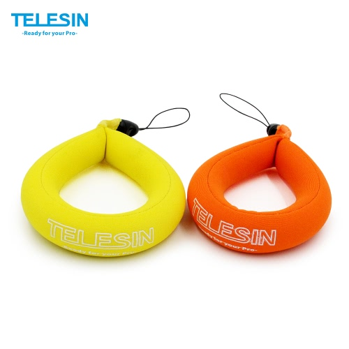 TELESIN Waterproof Camera Float Floating Straps Hand Straps (2pcs in 1 bag) for GoPro/Panasonic Lumix/Nikon COOLPIX AW110/Canon PowerShot D20/Fujifilm FinePix/Olympus Tough/Sony-Protect Your Device from Sinking