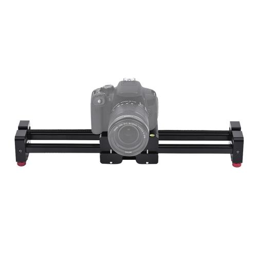 Rétractable caméra vidéo glisseur Dolly 52cm voie ferroviaire stabilisateur 104cm coulissant Distance réelle jusqu'à 8kg de charge pour Canon Nikon Sony reflex numériques caméscopes