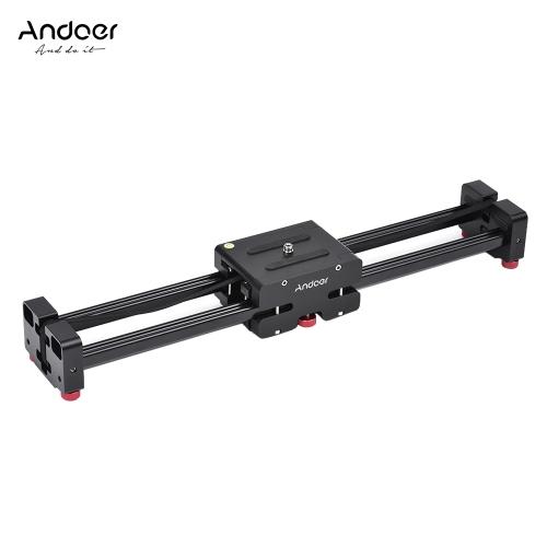 Retráctil cámara Video Slider Dolly 52cm pista estabilizador 104cm real desplazamiento distancia del carril de carga hasta 8kg para Canon Nikon Sony réflex digitales videocámaras