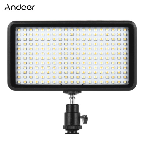 Andoer Ultra-cienka 3200K / 6000K Dimmable Studio Wideo Fotografia Lampa LED Lampa Światła 228pcs Koraliki do Canon Nikon DSLR Kamera DV
