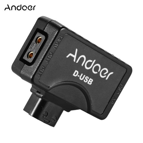 ROLUX D-Tap (P-Tap) to USB Adapter Connector 5V for V-mount Camera Battery Can be Used for Charger for BMCC Smartphone Monitor