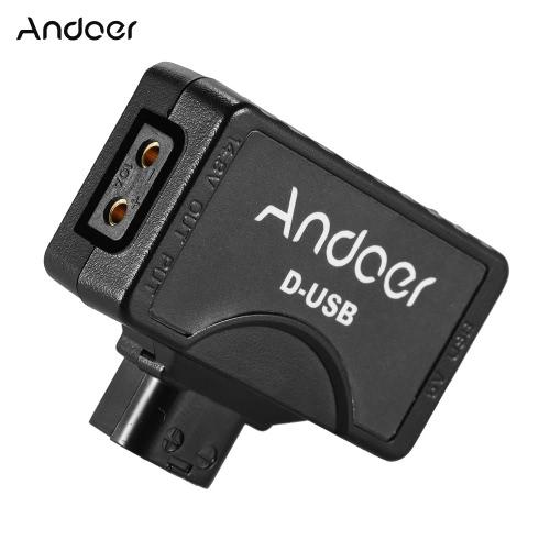 Andoer D-Tap 5V USB Adapter Connector dla V-Mount kamery aparatów dla BMCC Smartphone monitora