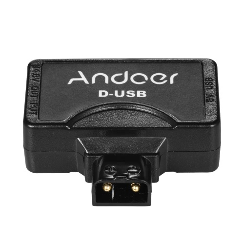 Andoer D-Tap to 5V USB Adapter Connector for V-Mount Camcorder Camera Battery for BMCC Smartphone Monitor