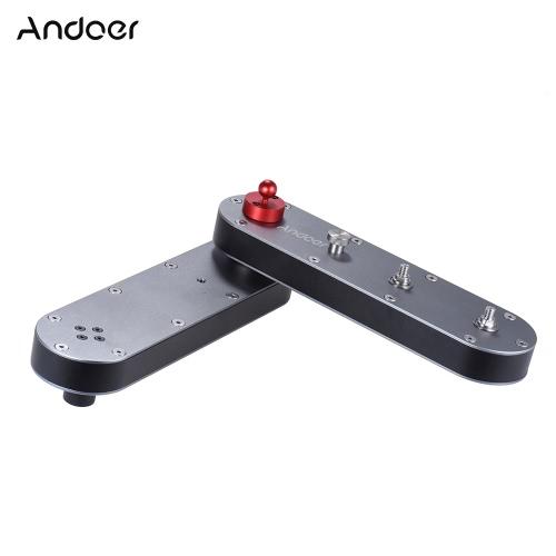 Andoer Portable Camera Slider z panoramicznym i liniowym ruchem Rozciąga się do 4 × odległości dla kamer Action GoPro / aparatów fotograficznych Smartphone / DSLR / ILDC 'Opakowania kartonowe
