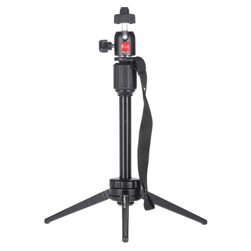 Kingjue KT-200 + BD-1 Portable Mini Aluminum Universal Table-top de Voyage Tripod Homes Vidéo / Micro Photographie Trépied de table Capacité de charge 2,7 kg