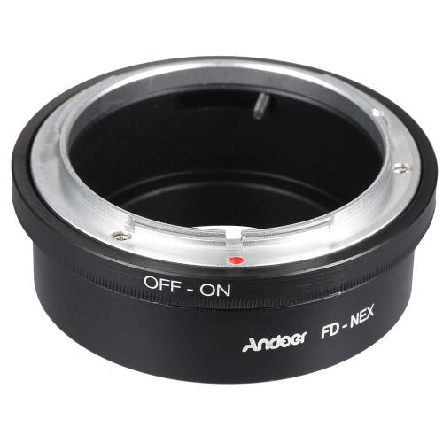 Andoer FD-NEX anel adaptador montagem da lente para Canon FD lente de ajuste para o corpo da câmera Sony NEX E montagem Digital