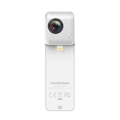 Insta360 Nano Mini compacto panorámica de 360 grados del panorama de la cámara de vídeo HD 3K 210 Doble Grado de Gran Angular Objetivo ojo de pez para VR Auricular Gafas para iPhone 7/7 / Plus 6s / 6s Plus / 6/6 Plus Smartphone