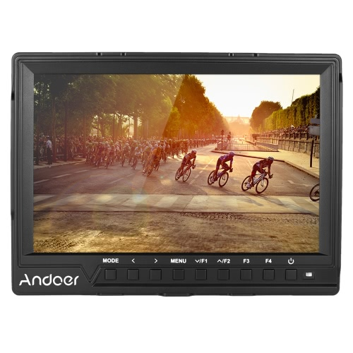 Andoer  7'' Ultra-thin on-Camera  Video Monitor Full HD 1920x1200 IPS Screen Field Monitor with Sunshade HDMI Input Support 4K Signal for Canon Nikon  Sony A7S/ A7S II/ A7R/ A7R II  DSLR Camera Camcorder(FW-759 Upgrade Version)