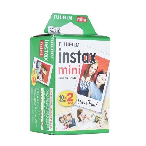 Fujifilm Instax Mini 20 folhas de papel fotográfico branco