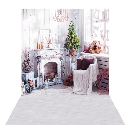 1,5 * 2m Fotografia tło Backdrop Drukowanie cyfrowe Fantasy Light Spot Drewniany Podłoga Wzór dla Studio Fotografii