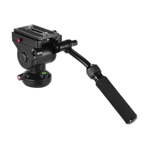 キヤノンニコンソニーデジタル一眼レフカメラビデオカメラの撮影ビデオ撮影のためAndoerビデオカメラの三脚アクション流体抗力なべ油圧パノラマ写真・ヘッド