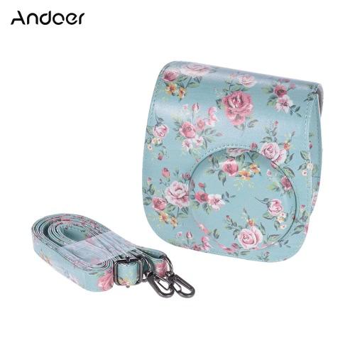 Andoer PU ochronna Camera Case Bag Pokrowiec Protector Fujifilm Instax Mini 8 + / 8s / 8
