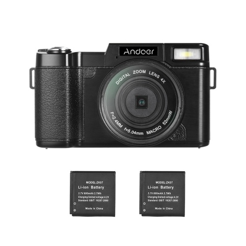 Andoer R1 1080P 15fps Full HD 24MP Digital Camera Cam Camcorder 3.0