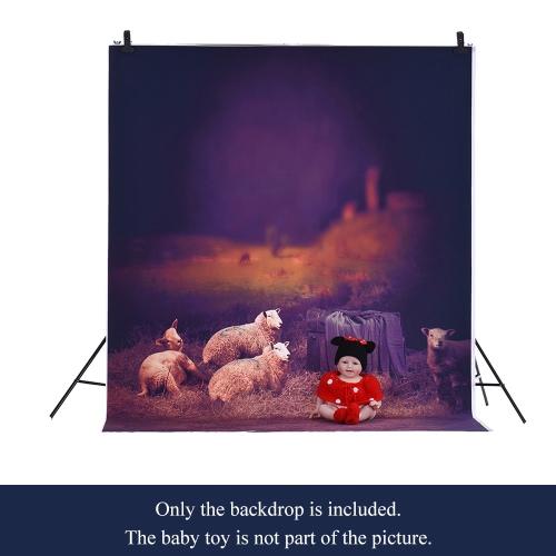 1,5 * 2m / 4,9 * Tło 6.5ft Fotografia tle Computer Printed rolnicze Owce Wzorzec dla dzieci Kid Dziecko Noworodek Pet zdjęcie portret studio fotografowania