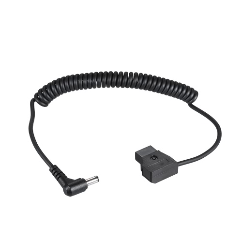 Andoer Enroulé 2m / 6.5ft D-Tap 2broches Homme DC 5.5 * 2.1mm Adapter Cable Extension élastique Ligne V-Mount Anton Batterie DSLR Rig Cage Power Supply