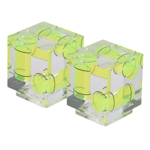 Andoer 2-pack 3 Axis 3-Dimension Camera Spirit Bubble Level Balance Hot Shoe Mount for Canon Nikon Panosonic Olympus Sony MI DSLR Photography