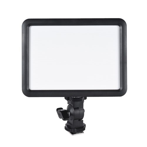 Godox LEDP120C Ultra-thin 12W Dimmable LED Video Light Panel Fill-in On-camera Lamp 3200K-5600K Bi-color Temperature w/ Hot Shoe Adapter for Cannon Nikon Sony Digital DSLR Camera Studio Photography