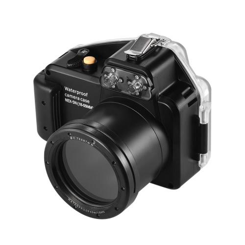 Kamera Meikon Wodoodporna obudowa do nurkowania Obudowa ochronna Podwodna podwodna 40m / 130ft dla Sony NEX-5 (18-55 mm)