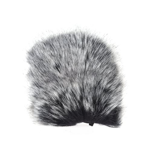Small Size Outdoor Microphone Mic Furry Windscreen Windshield Cover Muff for SHENGGU SG-107/ SG109 or other 6 * 5cm / 2.4 * 2in (L * D) Compact Microphones D4686-2