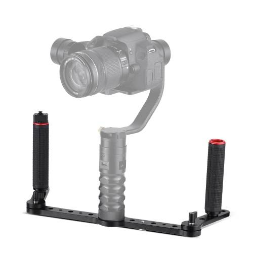 AFI 3SD-1A Manette à cardan à double grip avec joystick Matériau en alliage d'aluminium pour AFI VS-3SD Stabilisateur de cardan 3 axes