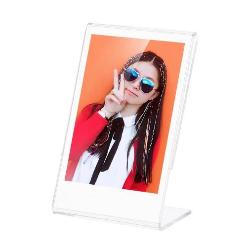 "Andoer 3"" L-shape Acrylic Photo Frame Transparent Mini Stand for Fujifilm Instax Mini 8 8+ 70 7s 90 25 26 50s 9 SP-1 SP-2 Film, 3-Pack D4719-2"