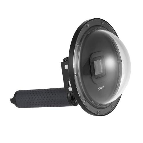 """SHOOT 6 """"Sport-Kamera Tauchen Fisheye Dome Port Wasserdichtes Gehäuse für GoPro Hero 5 Action-Kameras Unterwasser-Fotografie mit Floaty Grip"""