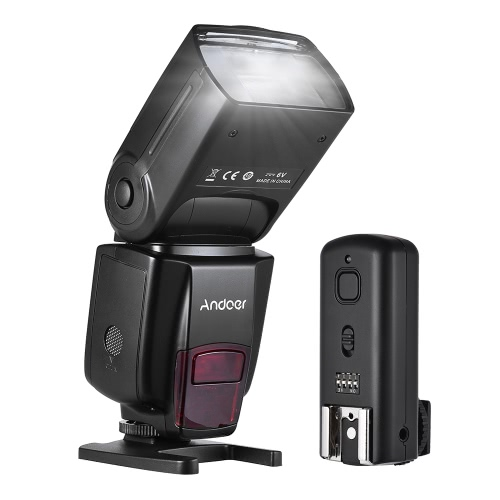 Andoer AD560 IV 2.4G Wireless Universal On-camera Slave Speedlite Flash Light GN50 with Flash Trigger