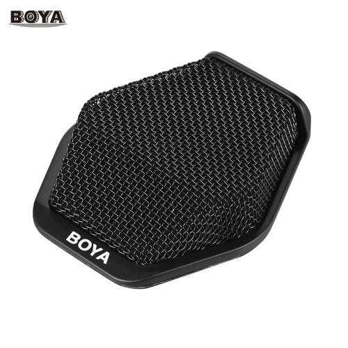BOYA BY-MC2 Super-Nieren-Kondensator-Konferenz-Mikrofon mit 3,5-mm-Audio-Buchse und 5V USB-Schnittstelle 16ft Pick-up für Konferenzraum Seminare und andere Anlässe