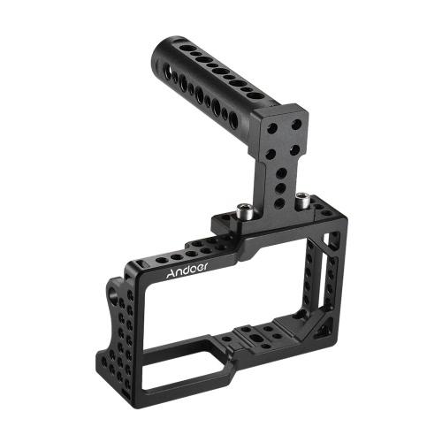 Andoer Video Camera Stabilizator stabilizatora klatki dla kamery BMPCC do montażu monitora mikrofonu Tripod LED Light Akcesoria fotograficzne