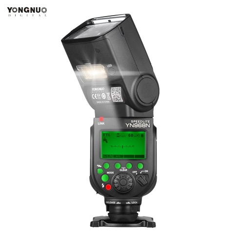 YONGNUO YN968N Wireless TTL Flash Speedlite 1/8000s HSS Equipped with Built-in LED Light 5600K for Nikon DSLR Cameras Compatible with YN622N YN560 Wireless System