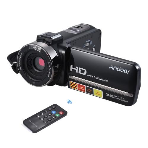 Andoer HDV-3051STR portátil de 24 mega píxeles cámara de vídeo digital