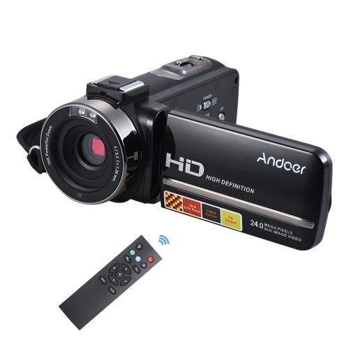 Andoer HDV-3051STR Câmera de Vídeo Digital Portátil com 24Mega Pixels