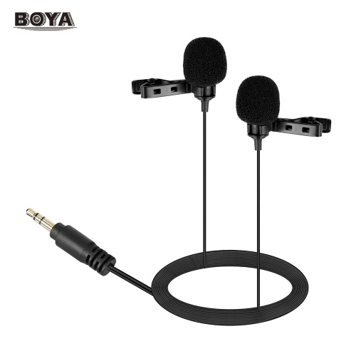 BOYA BY-LM400 Podwójna głowica Lavalier Lapel Microphone