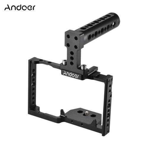 Andoer aluminiowe klamerki na klatkę kamery + zestaw uchwytów do góry Film wideo Stabilizator filmu do kamery Panasonic GH5