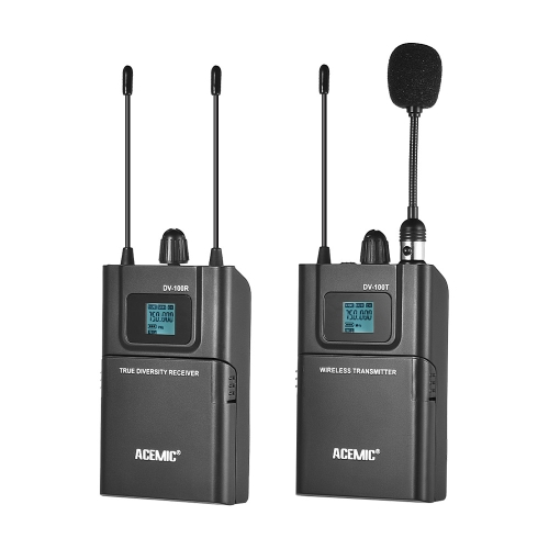 ACEMIC DV-100 UHF Wireless Transmitter Receiver Microphone