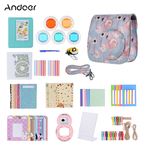 Andoer 14 in 1 Accessories Kit for/8 Fujifilm Instax Mini 9/8+/8s