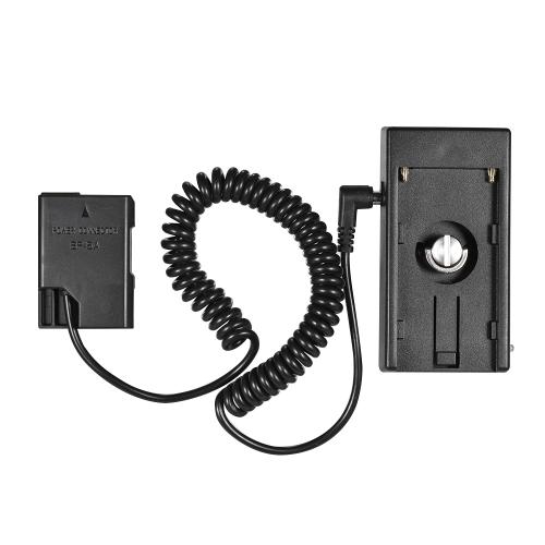 Andoer NP-F970 à EN-EL14 Dummy Câble de ressort de l'adaptateur de montage de la plaque de batterie