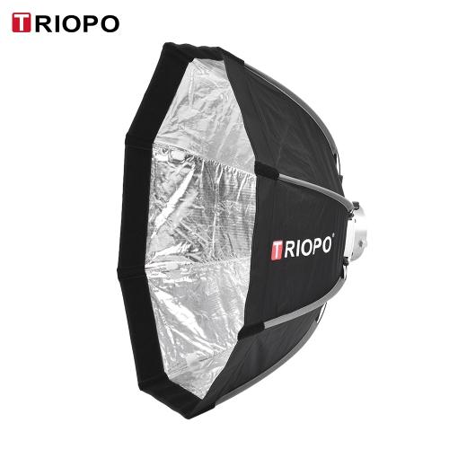 TRIOPO 65cm Składany 8-polowy Octagon Softbox z miękką tkaniną Torba Bowens Mount dla Studio Strobe Flash Light