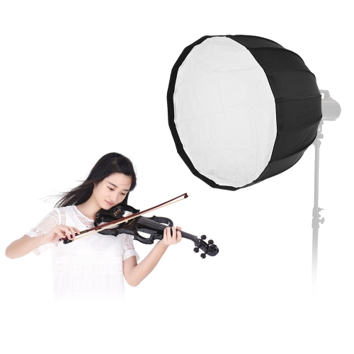 "90cm / 36 ""16 Rods Portable Deep Parabolic Umbrella Softbox для Bowens Mount Studio Flash Light для Aputure COB 120D COB 120t для Godox AD600B AD600BM Flashpoint XPLOR 600 фото"
